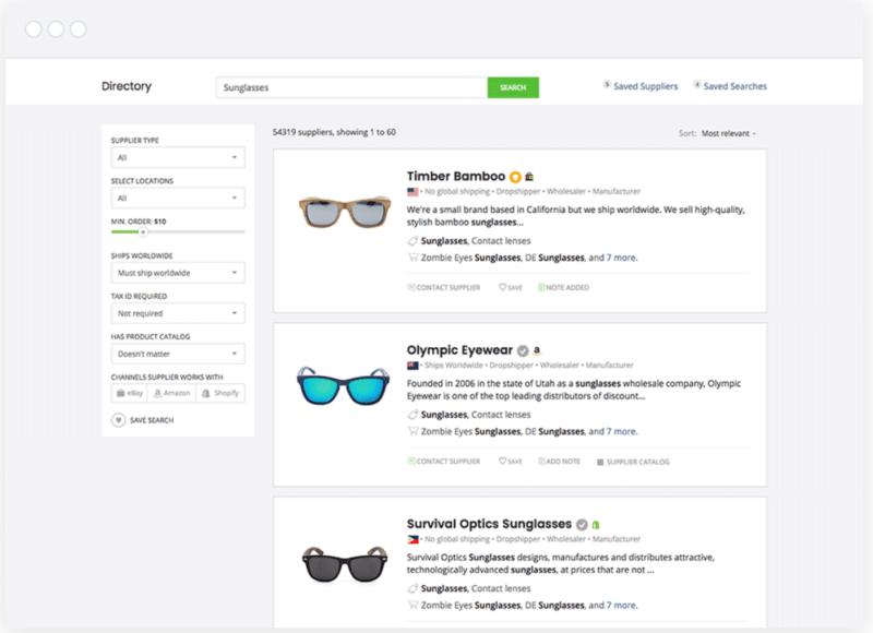 SaleHoo's supplier directory