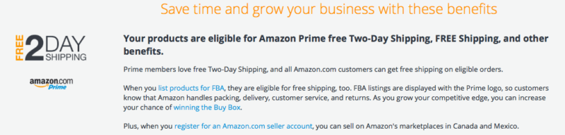 Fulfillment by Amazon benefit