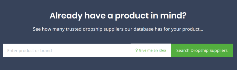 Search bar for SaleHoo's supplier directory