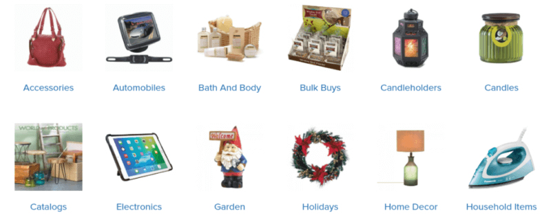Sunrise Wholesale product catalog